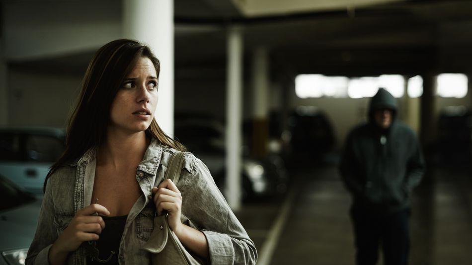 donna durante aggressione