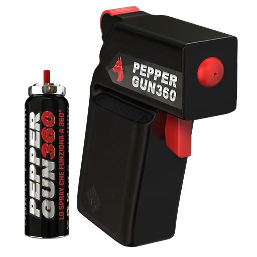 pepper gun 360 black pistola peperoncino antiaggressione