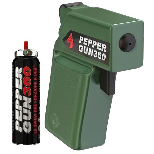 pepper gun 360 green pistola peperoncino antiaggressione