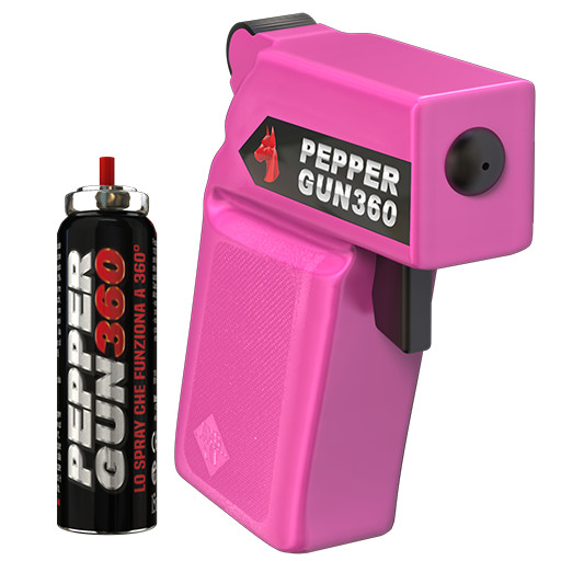 pepper gun 360 pink pistola peperoncino antiaggressione
