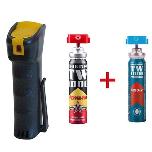 Spray al Peperoncino TW1000 Man con 2 Ricariche (Attiva e Inerte)